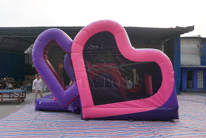 double love inflatable bounce house