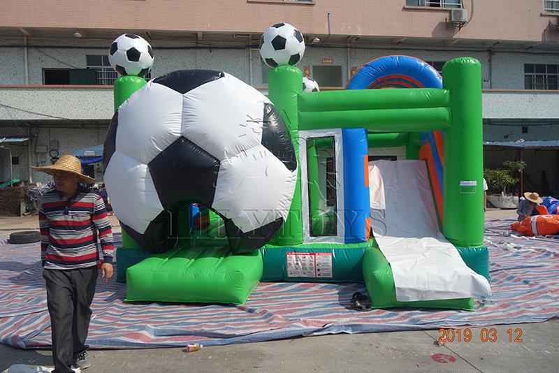 inflatable football bounce combo