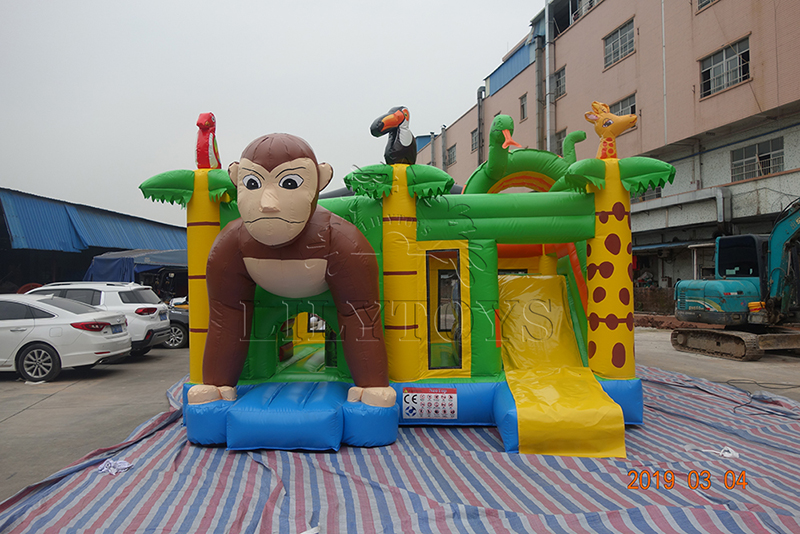 jungle inflatable bounce house for rental