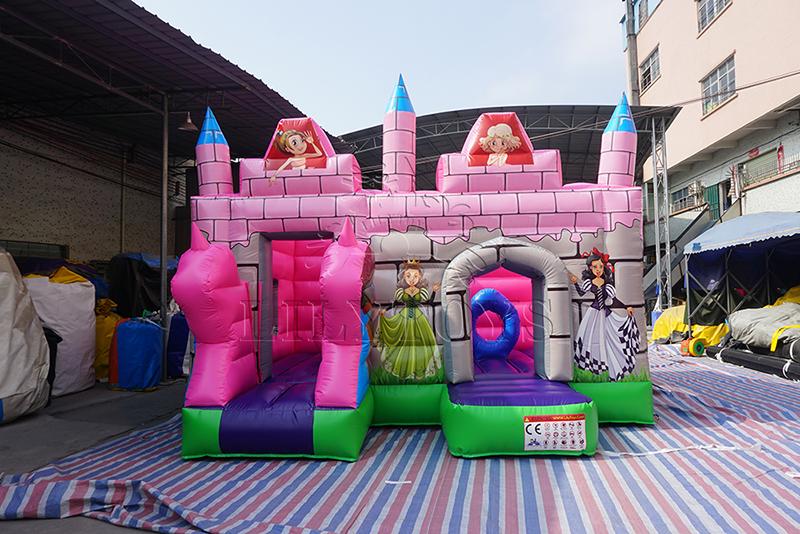 inflatable pvc princess bounce castle