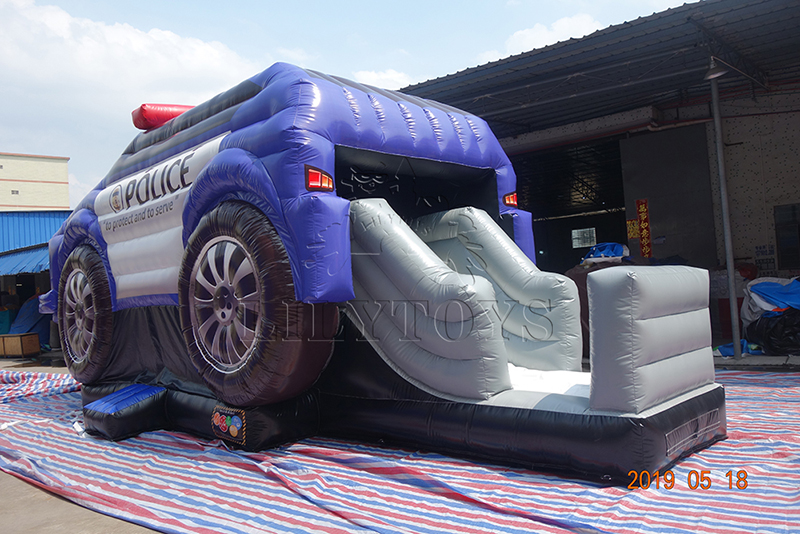 police commercial inflatable bounce with slide