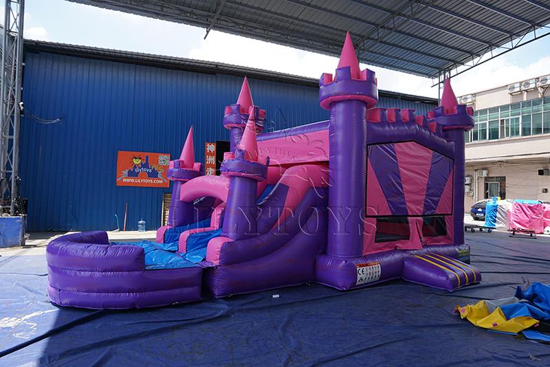 commercial castle bounce house slide