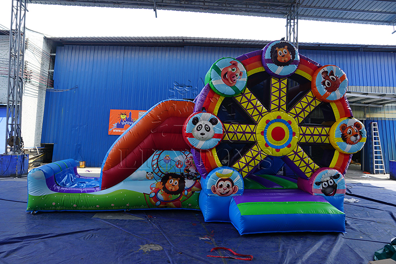 Ferris wheel inflatable bouncy with slide