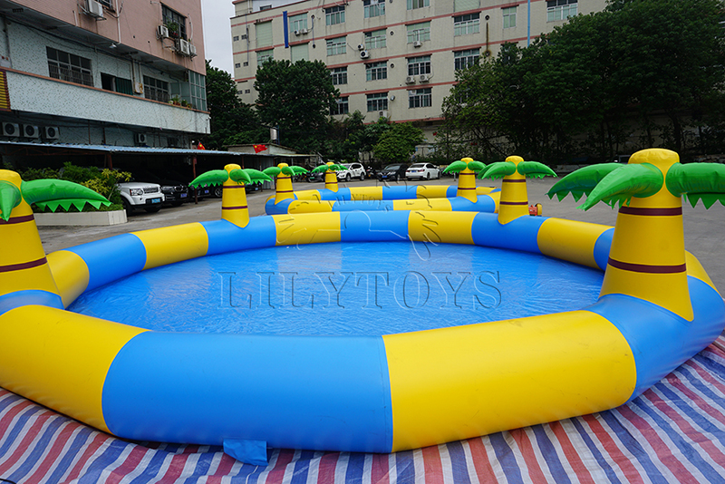 palm tree inflatable swimming pool