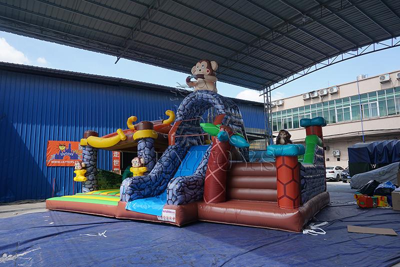 monkey with banana inflatable bounce