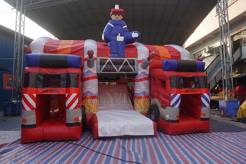 inflatable fireman combo house