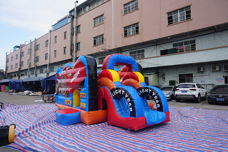 car race inflatable combo
