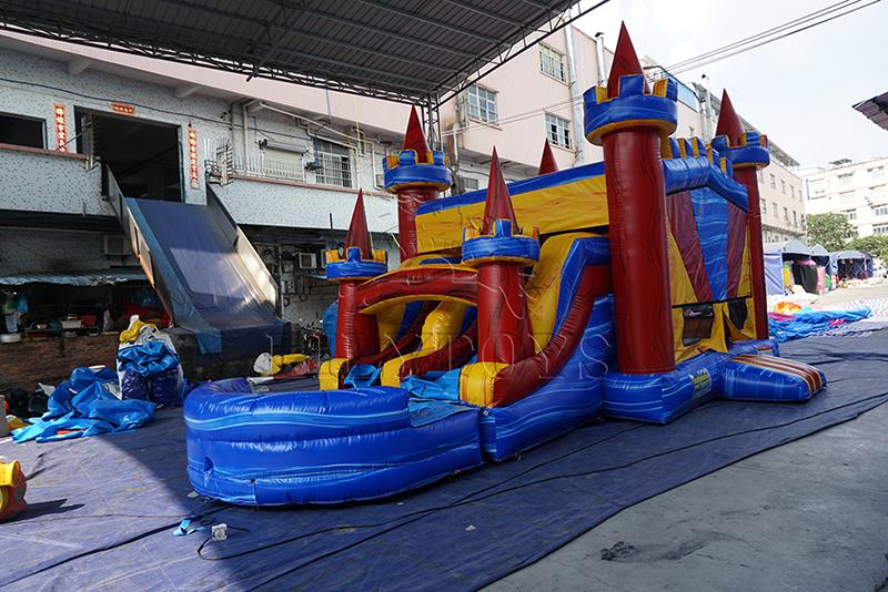 commercial inflatable castle slide