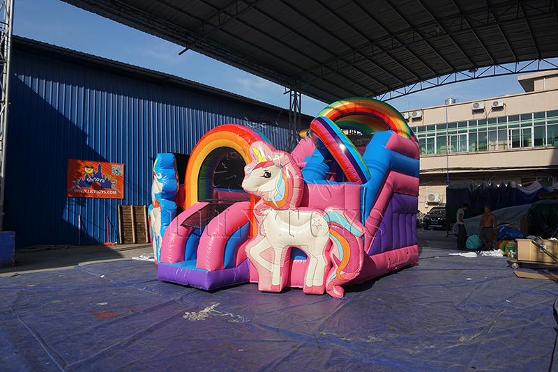 unicorn inflatable bounce house