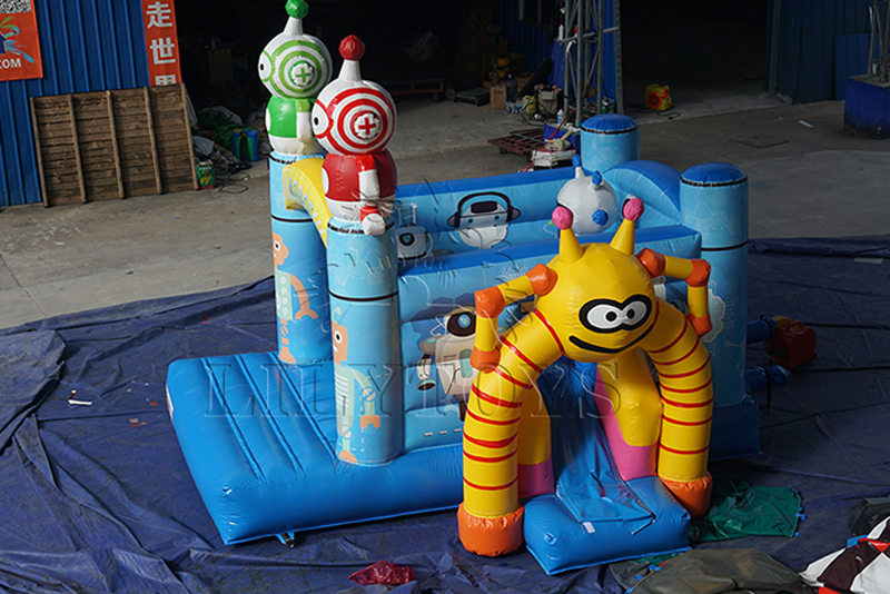 inflatable robot bounce house