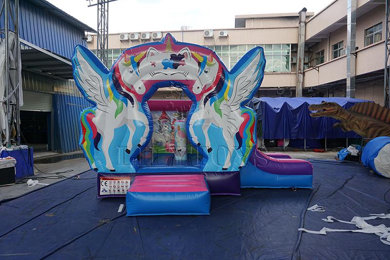 unicorn inflatable kids bouce playhouse