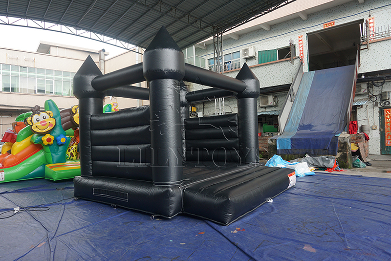 commercial inflatable black bounce house kids