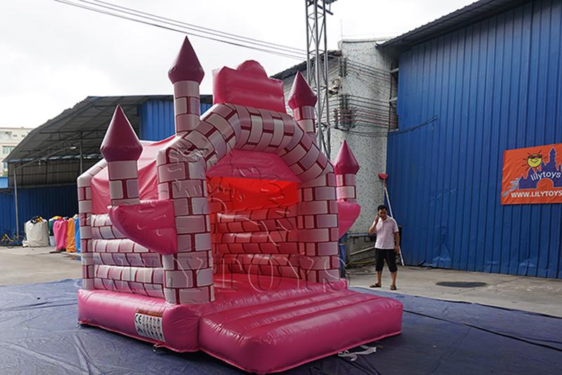pink princess inflatable bounce house