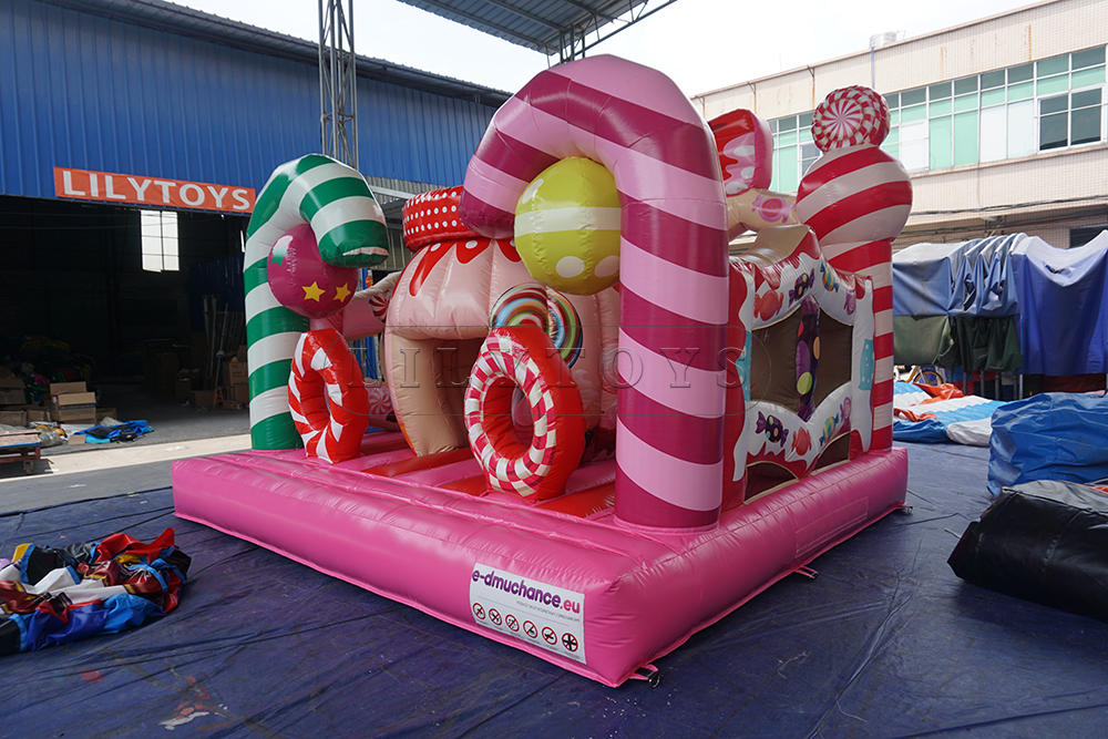 candy inflatable bouncy castle for kids