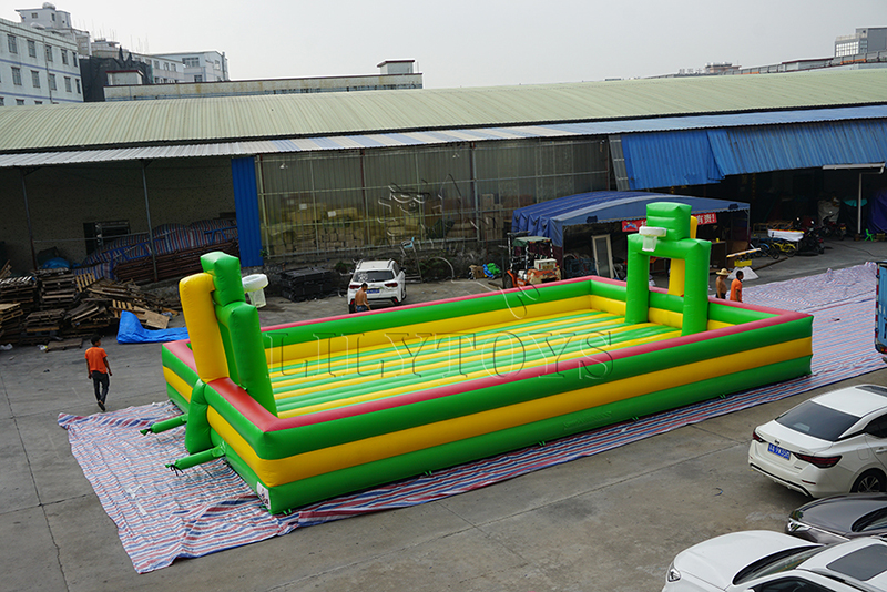 inflatable field with air