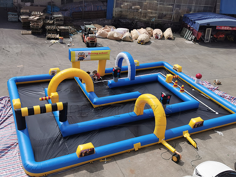 inflatable driving school area