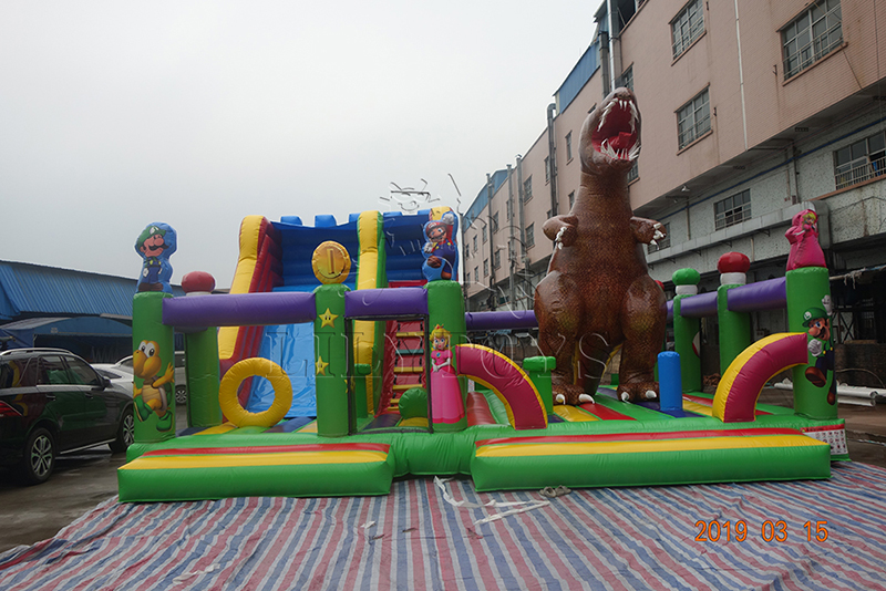 dino inflatatable playground for play