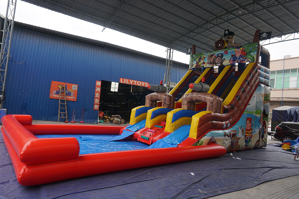 inflatable pirate slide for the pool