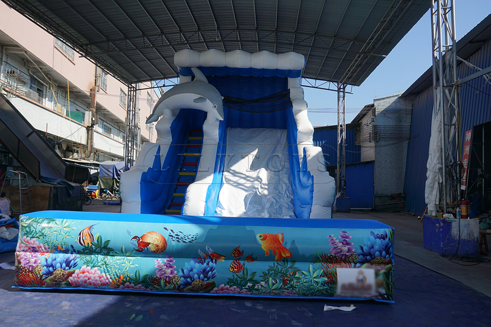 inflatable water slide commercial