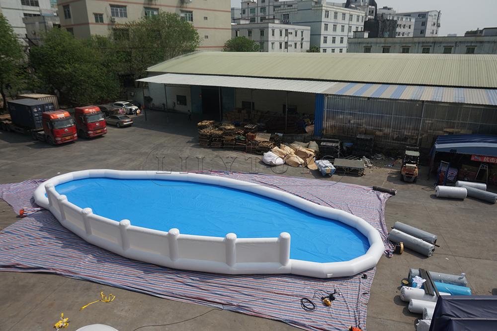 irregular inflatable pool