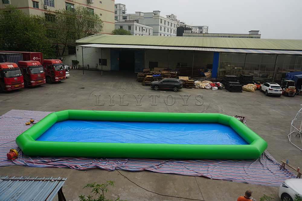 green color inflatable swimming pool