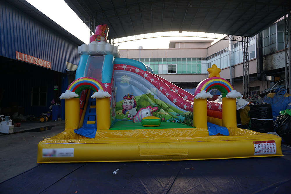 inflatable castle water slide