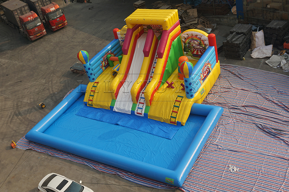 water slide giant inflatable