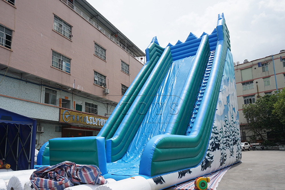 snow moutain inflatable slide