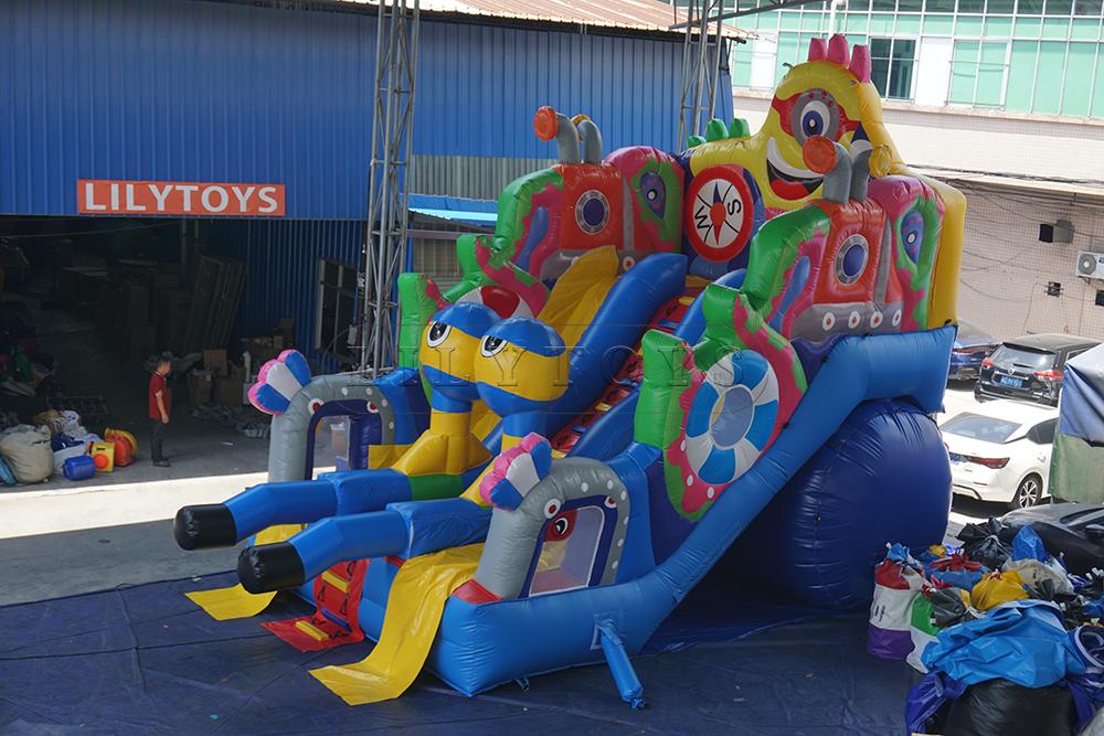 kids colorful inflatable slide