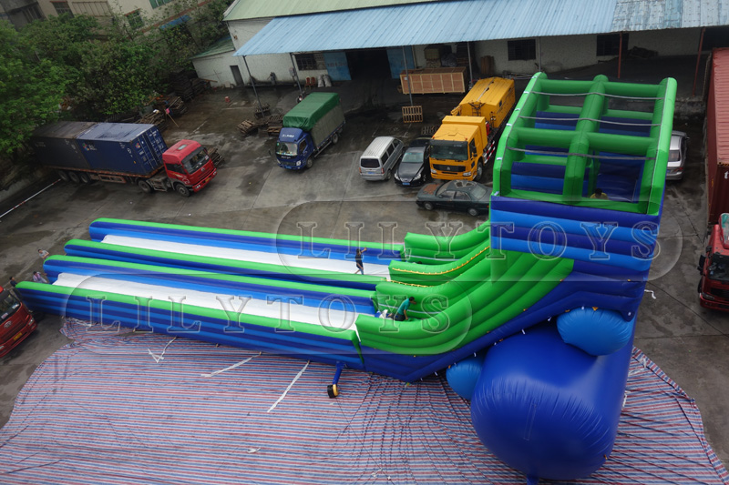 adults inflatable doublt lane slide for commercial