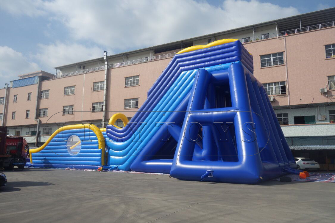 adults inflatable fly slide with blob