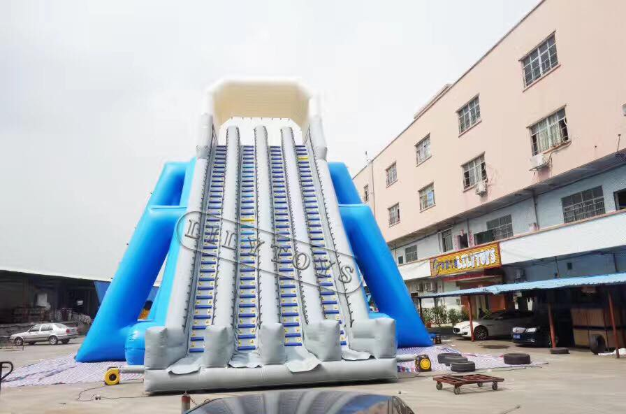 four lane giant inflatable water slide for adults