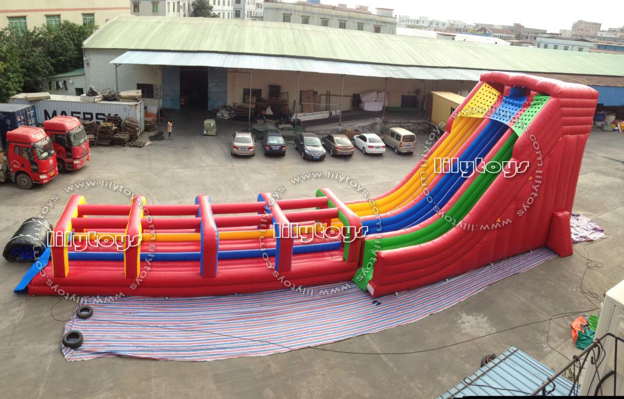 commercial rainbow inflatable water slide