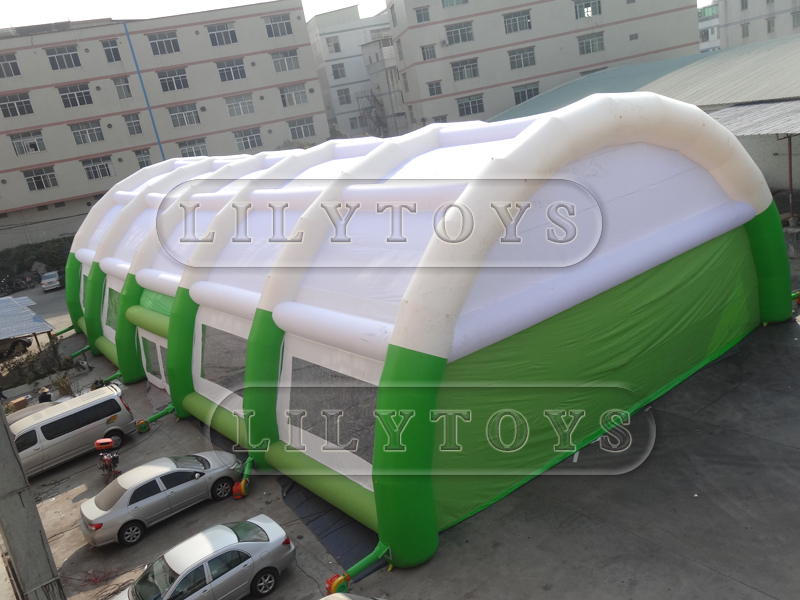 Giant inflatable white tent