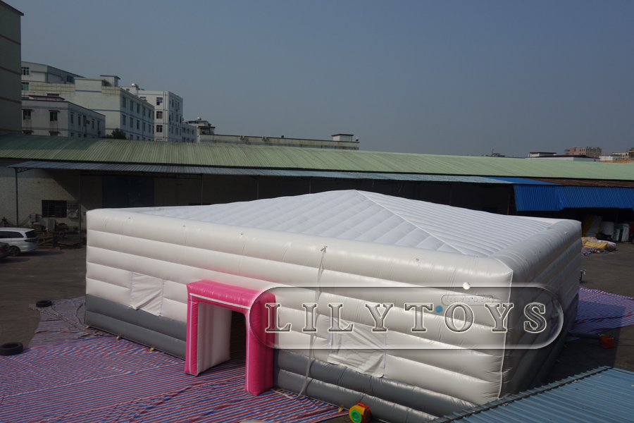 inflatable white double layer tent