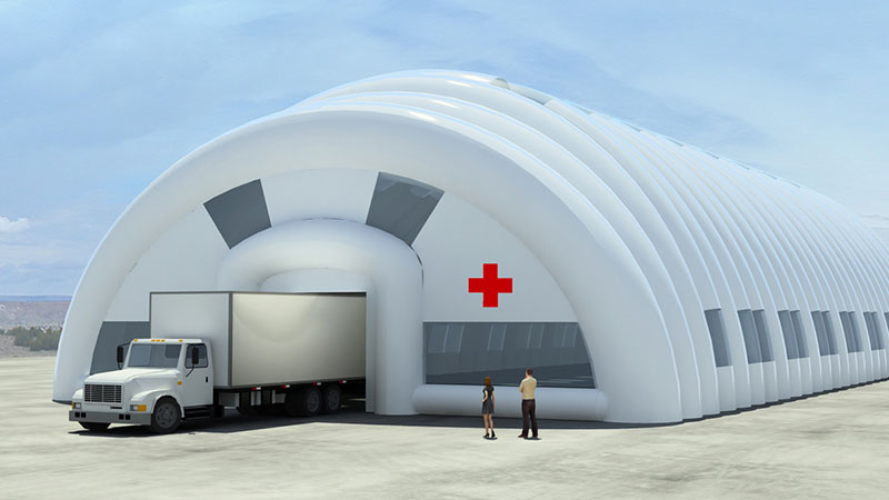 giant inflatable medical tent