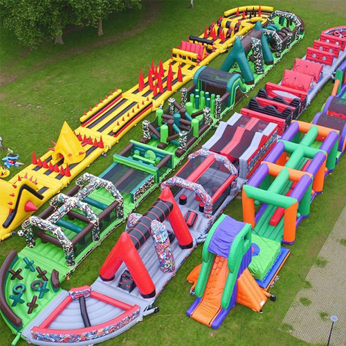 giant inflatable obstacle course 200m