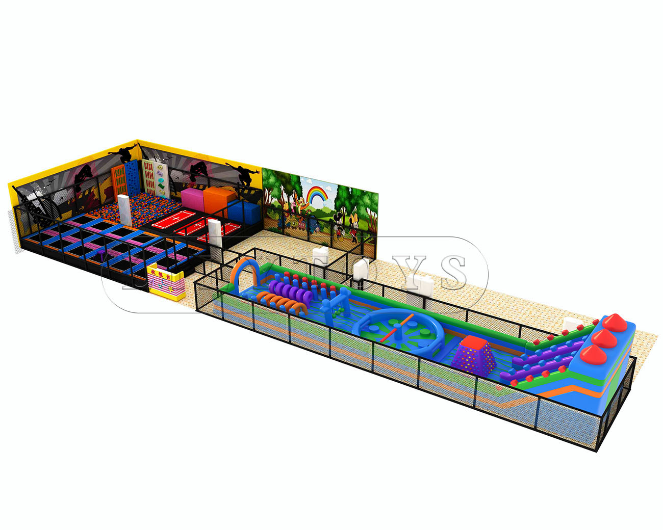indoor inflatable playground park for kids