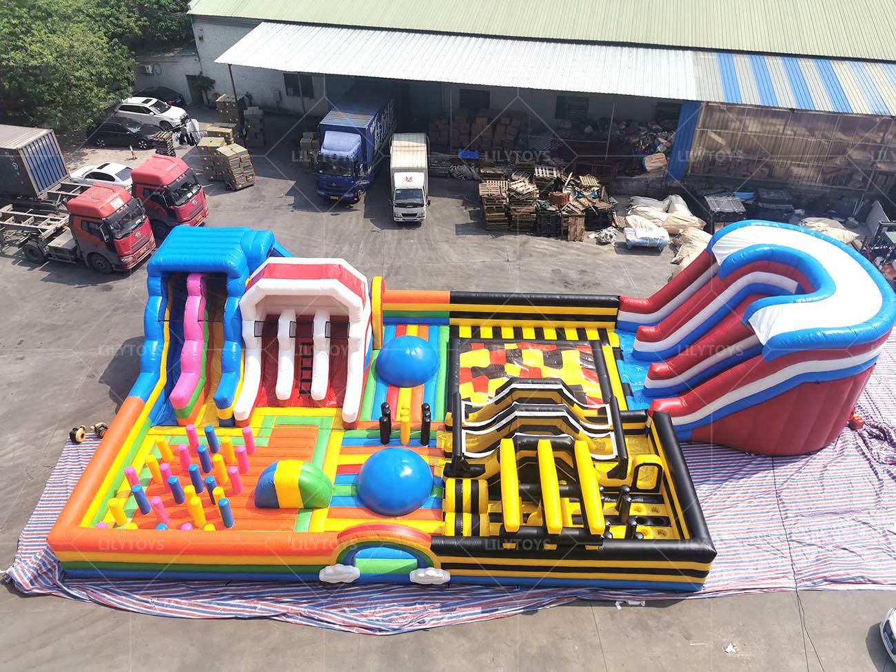 indoor inflatable interactive playground