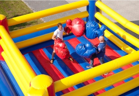 inflatable interactive games boxing