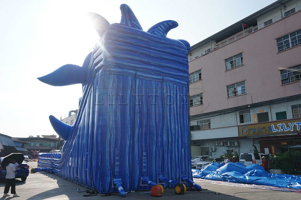GIANT large inflatable whale inflatable wave slide