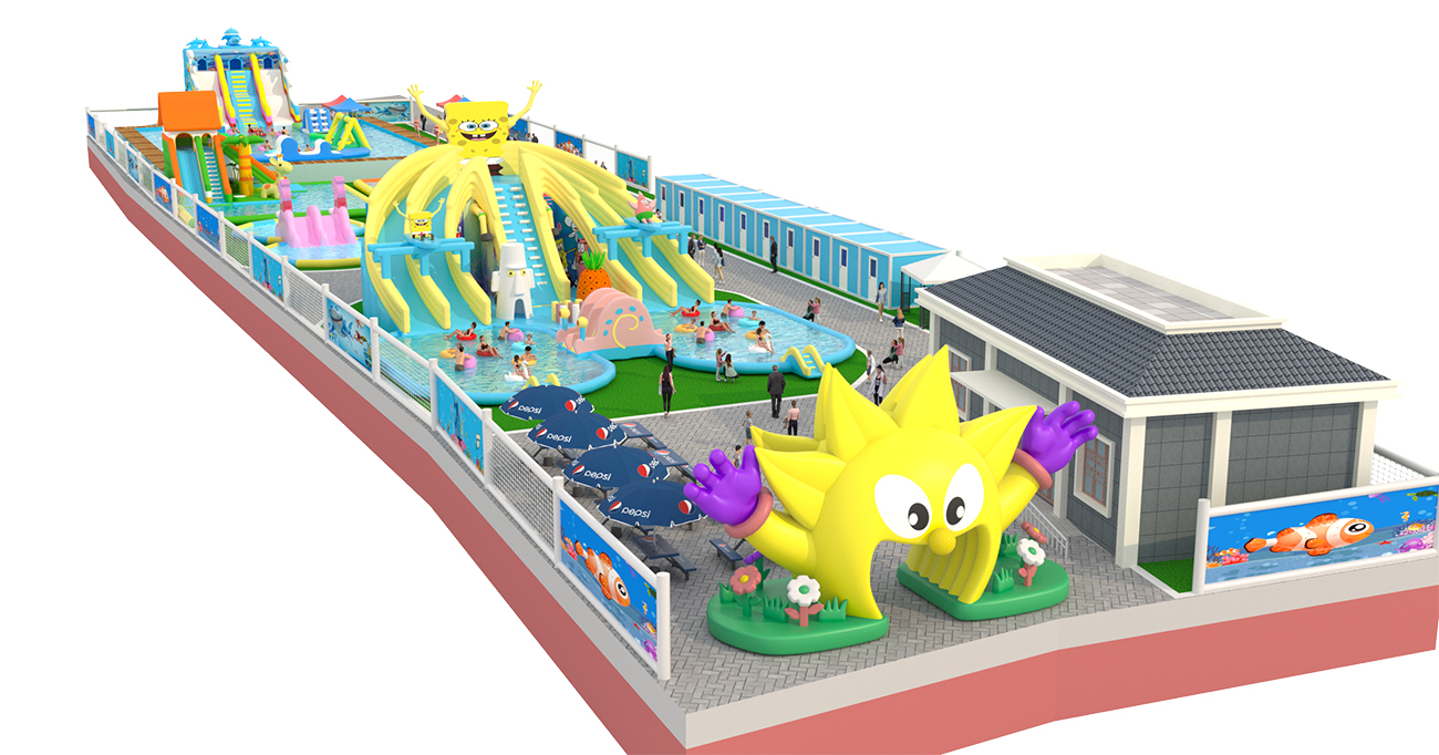 Inflatable ground Water park -05