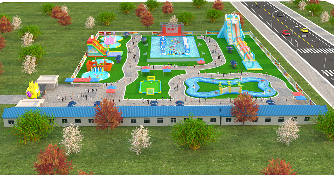 Inflatable ground Water park -100x80