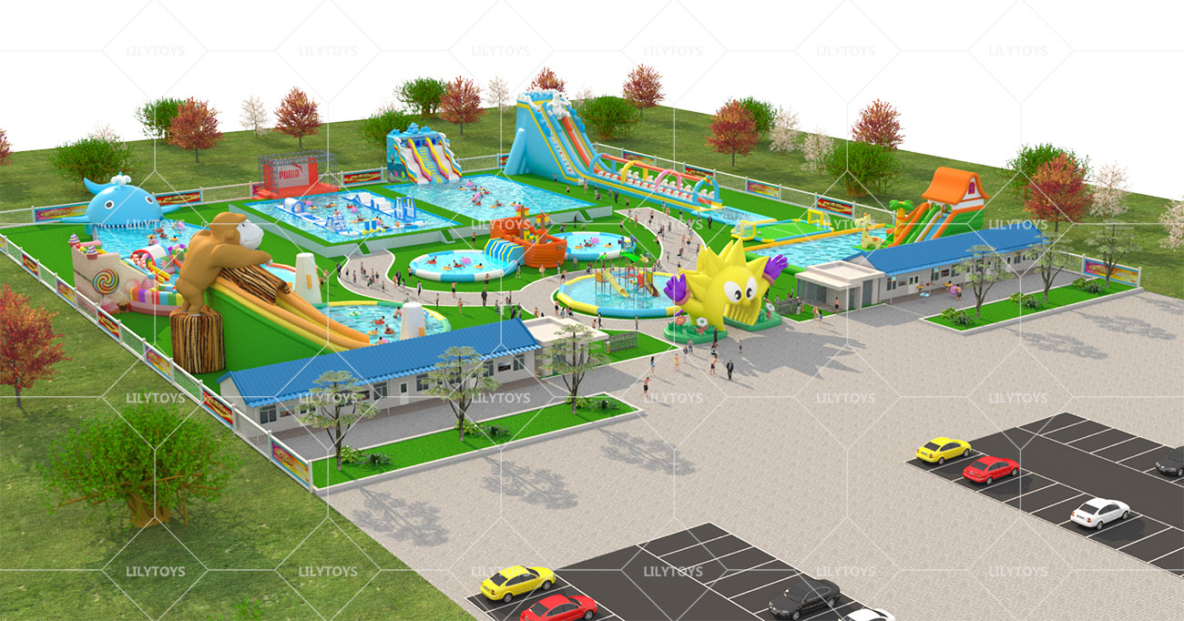 Inflatable ground Water park -07