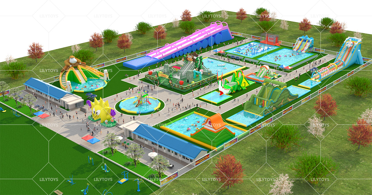 Inflatable ground Water park -08