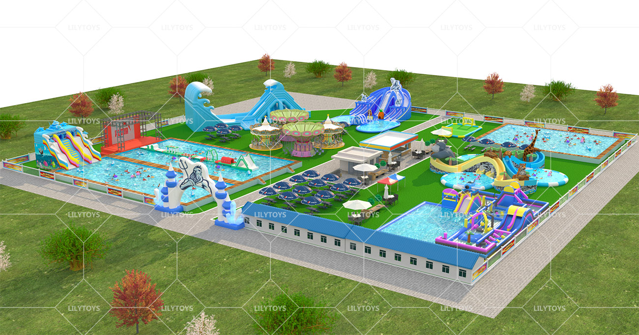 Inflatable ground Water park -09