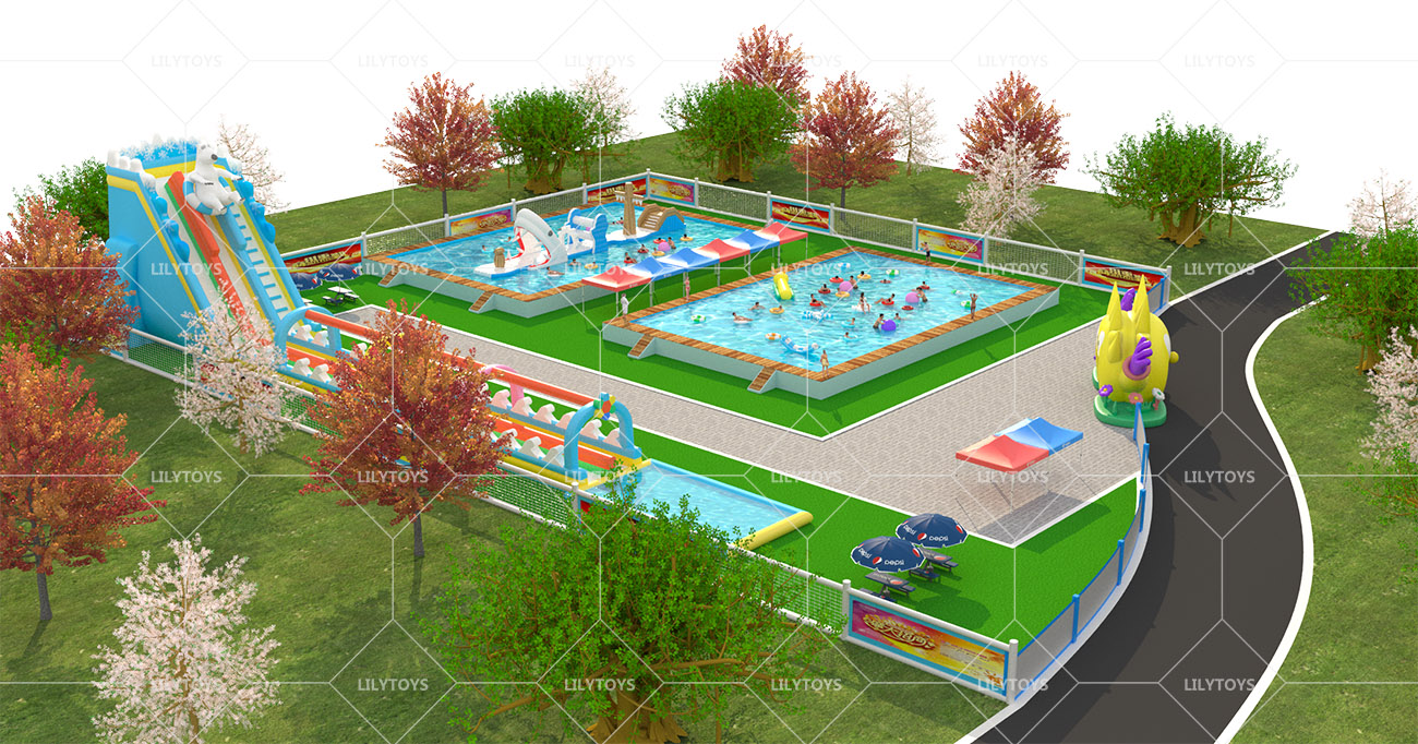 Inflatable ground Water park -10