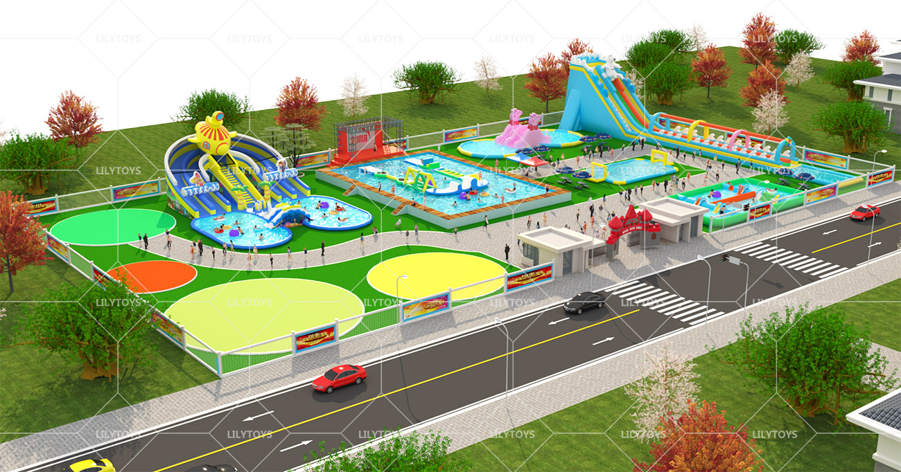 Inflatable ground Water park -11