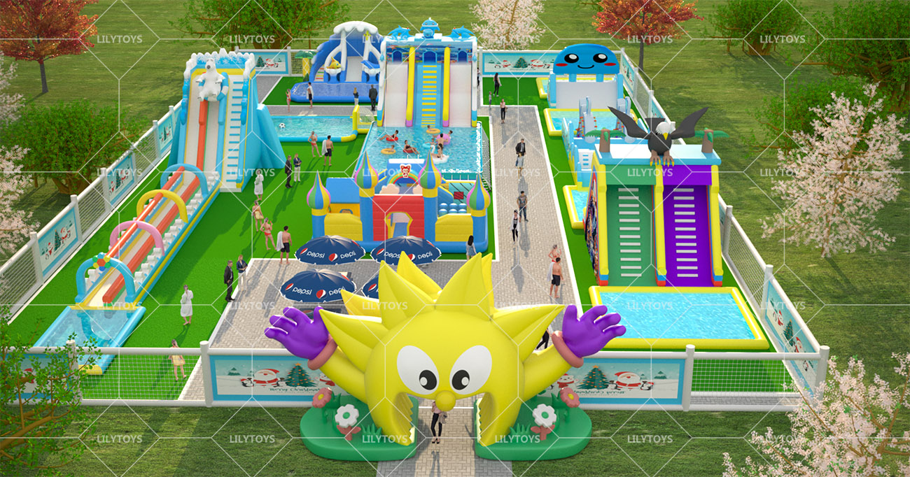 Inflatable ground Water park -13