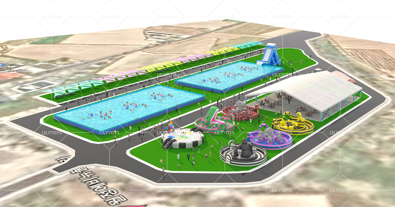 Inflatable ground Water park -15